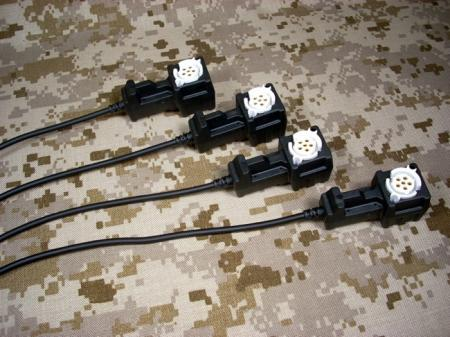 Four Way Power Splitter (1 Male, 4 Females)
